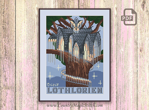 Visit Lothlorien Cross Stitch Pattern #tv065