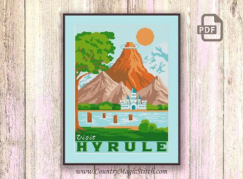 Visit Hyrule Cross Stitch Pattern #tv035