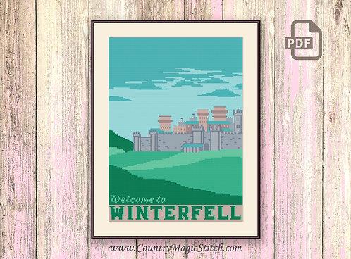 Welcome to Winterfell Cross Stitch Pattern #got002