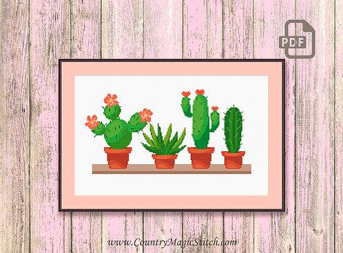 Cactus Cross Stitch Pattern #oth019