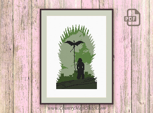 The Throne Cross Stitch Pattern #got022