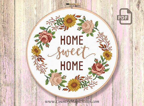 Home Sweet Home Cross Stitch Pattern #oth059