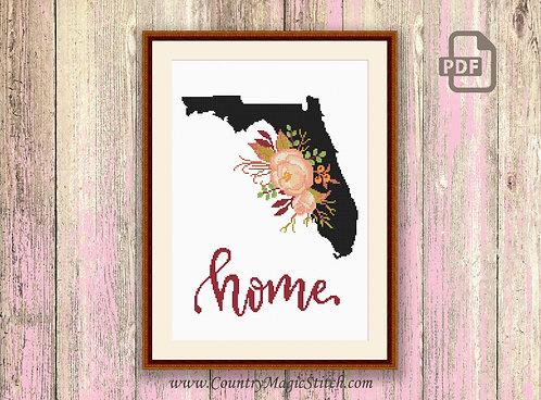 Florida Cross Stitch Pattern #mp014