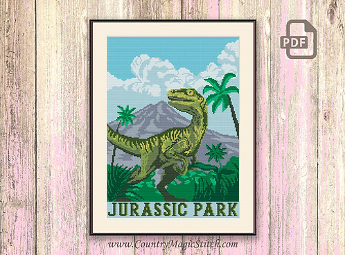 Jurassic Park Cross Stitch Pattern #tv011