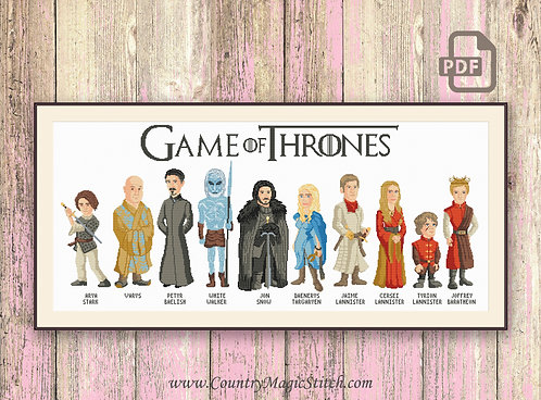 Game of Thrones Characters Cross Stitch Pattern #got003
