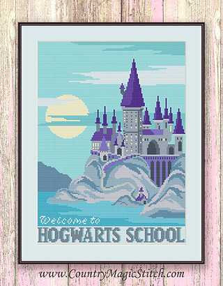 Welcome to Horwarts School Cross Stitch Pattern #hp017