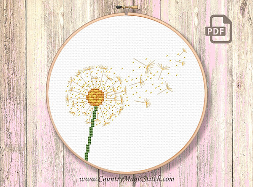 Dandelion Cross Stitch Pattern #oth045