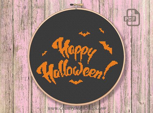 Happy Halloween Cross Stitch Pattern #hl001