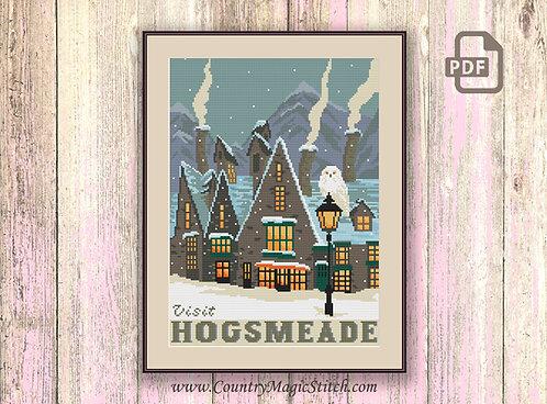 Visit HogsmeadeCross Stitch Pattern #hp016