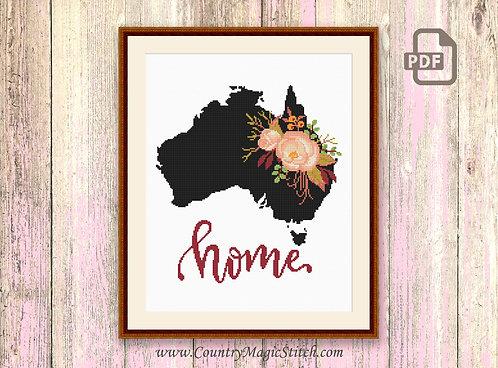 Australia Cross Stitch Pattern #mp023