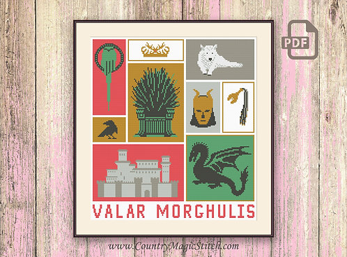 Valar Morghulis Cross Stitch Pattern #got20