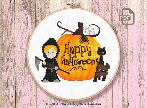 Happy Halloween Cross Stitch Pattern #hl005