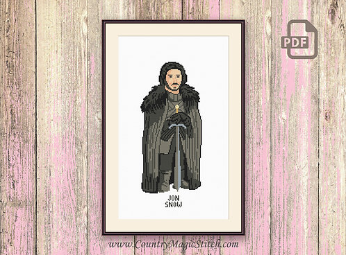 Jon Snow Cross Stitch Pattern #got008