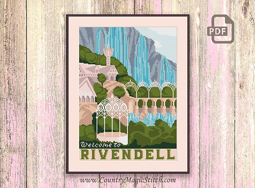 Welcome to Rivendell Cross Stitch Pattern #tv020