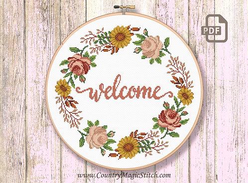 Welcome Cross Stitch Pattern #oth060
