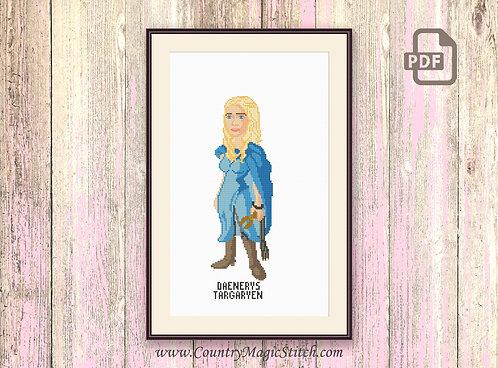 Daenerys Targaryen Cross Stitch Pattern #got009