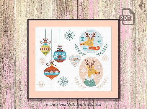 Merry Christmas Cross Stitch Pattern #ch006
