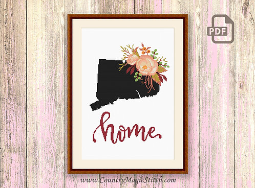 Connecticut Cross Stitch Pattern #mp038
