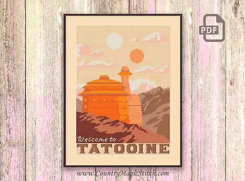 Welcome to Tatooine Cross Stitch Pattern #tv025