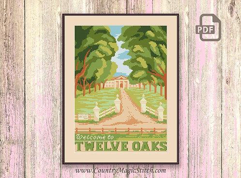 Welcome to Twelve Oaks Cross Stitch Pattern #tv053