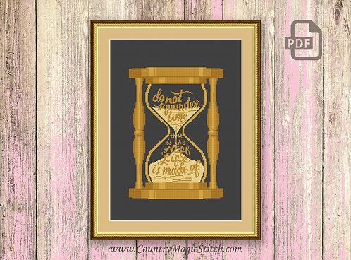 The Hourglass Cross Stitch Pattern #tv055