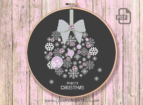 Merry Christmas Cross Stitch Pattern #ch015