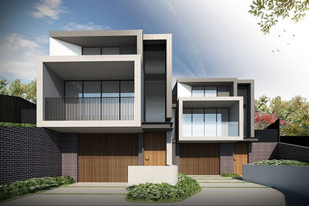 Semi-detached residences by our Design S