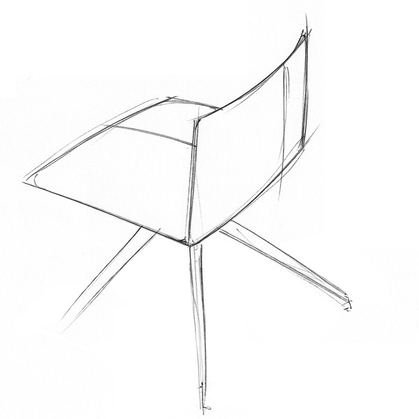 Stamp chair model 018 by Alejandro Valde