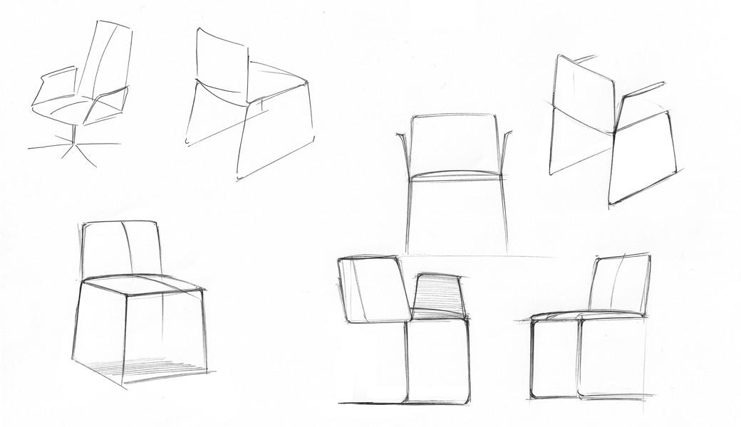 Stamp chair model 019 by Alejandro Valde