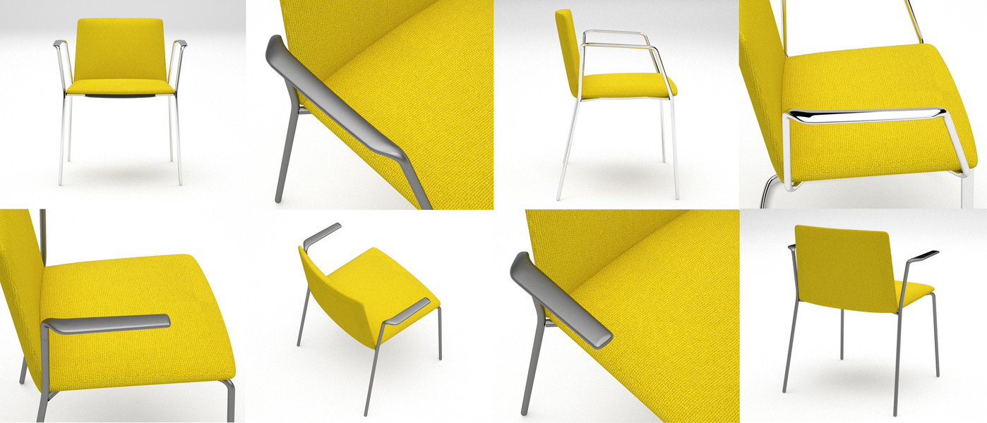Stamp chair model 021 by Alejandro Valde