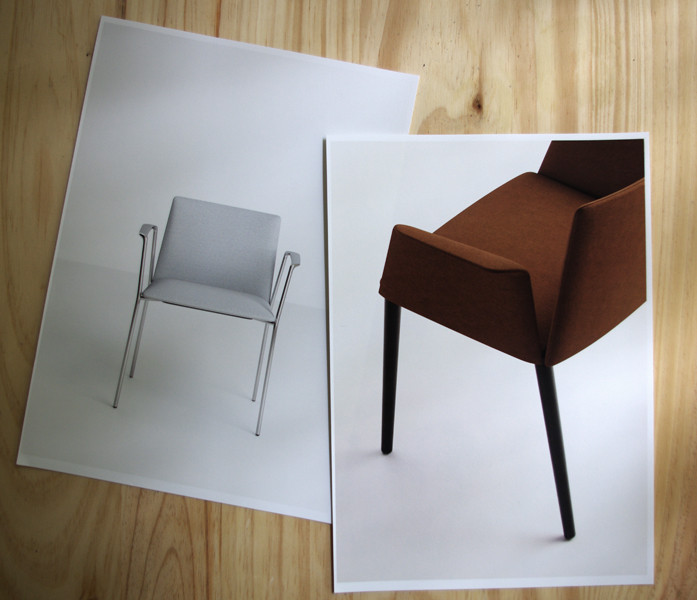 Stamp chair model 34 by Alejandro Valdes