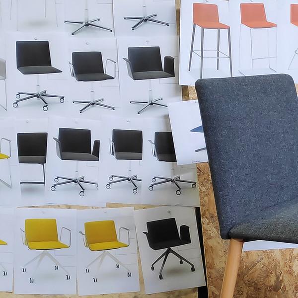 Stamp chair model 27 by Alejandro Valdes