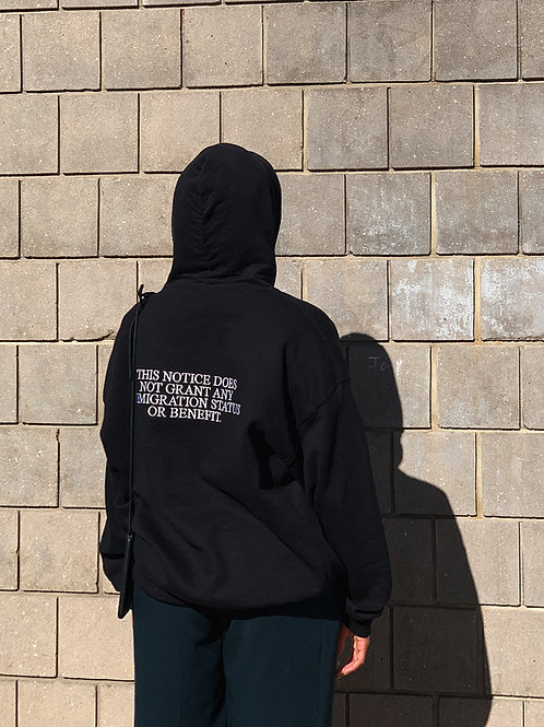 """It's Not Always  Black and white"" hoodie"