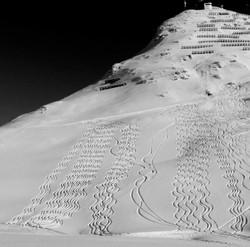 Spuren im Schnee Rüfikopf