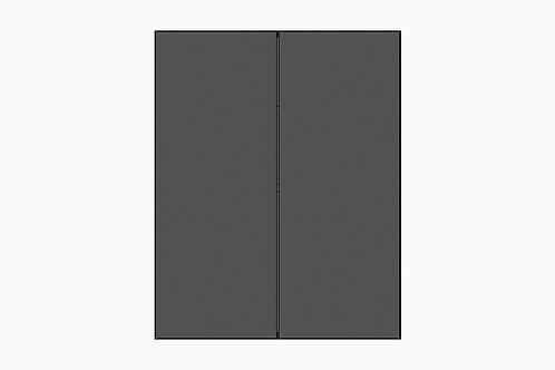 Caisson du haut 2 portes pour réfrigérateur | GRIS FONCÉ