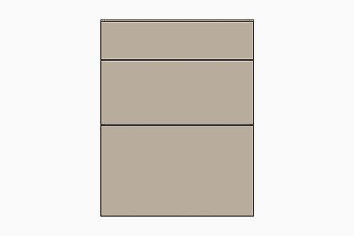 Caisson du bas 3 tiroirs balancés | GRIS PALE