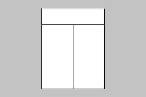 Caisson du bas 2 portes et tiroir | BLANC