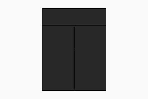 Caisson du bas 2 portes et tiroir | NOIR