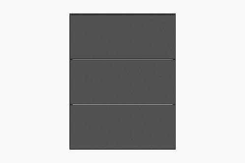 Caisson du bas 3 tiroirs égaux | GRIS FONCÉ