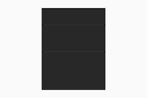 Caisson du bas 3 tiroirs balancés | NOIR