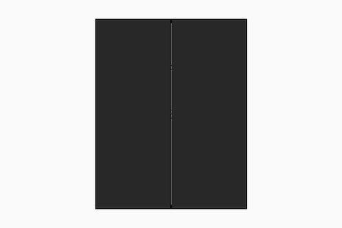 Caisson du haut 2 portes pour réfrigérateur | NOIR