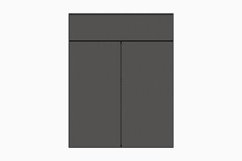 Caisson du bas 2 portes et tiroir | GRIS FONCÉ