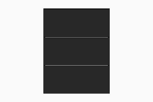 Caisson du bas 3 tiroirs égaux | NOIR