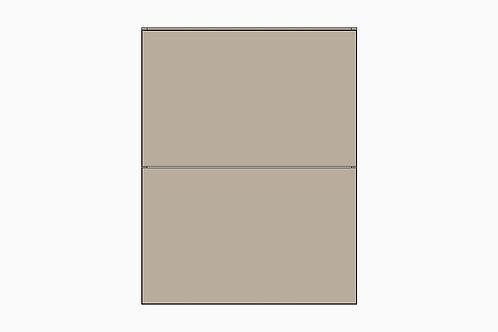 Caisson du bas 2 tiroirs égaux | GRIS PALE