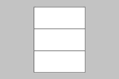 Caisson du bas 3 tiroirs égaux | BLANC