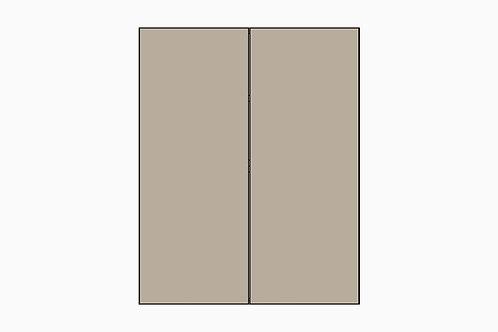 Caisson du haut 2 portes pour réfrigérateur | GRIS PALE