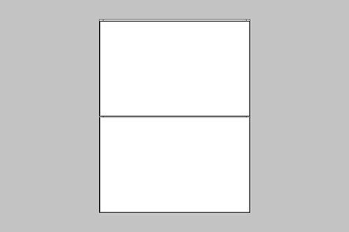 Caisson du bas 2 tiroirs égaux | BLANC