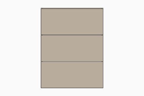 Caisson du bas 3 tiroirs égaux   GRIS PALE