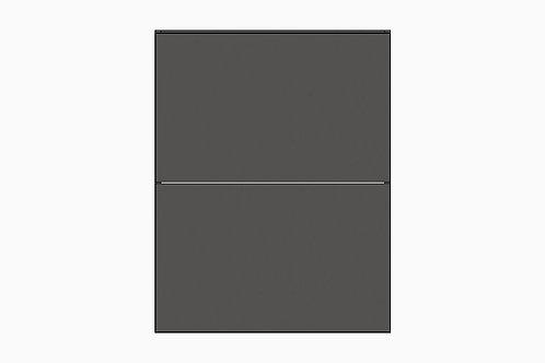 Caisson du bas 2 tiroirs égaux | GRIS FONCÉ