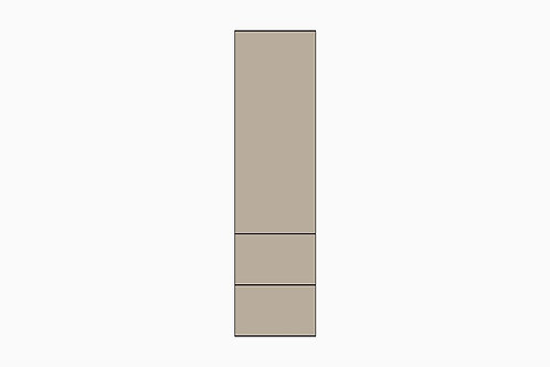 Caisson pleine hauteur 1 porte et 2 tiroirs | GRIS PALE